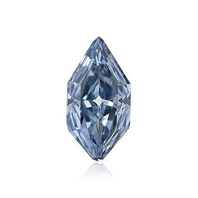 0.51 Carat Fancy Vivid Blue Loose Diamond Natural Color Lozenge Shape GIA Cert