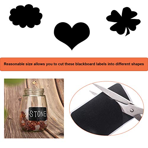 Chalkboard Labels, Waterproof Reusable Chalkboard Stickers , Removable Labels for Mason Glass Jars, Storage Bins, Blackboard Stickers for Parties and Craft Rooms (120 pcs)