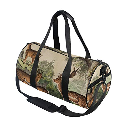 Deer Unisex's Duffel Bag Travel Tote Luggage Bag Gym Sports Luggage Bag by EVERUI (Image #2)