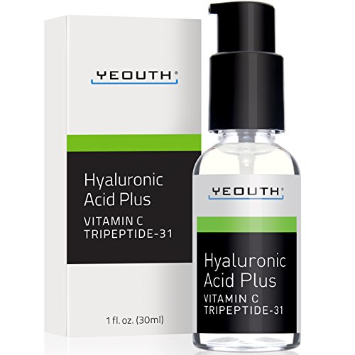 YEOUTH Best Anti Aging Vitamin C Serum with Hyaluronic Acid & Tripeptide 31 Trumps ALL Others. 100% (Plus Antioxidant Face Cream)