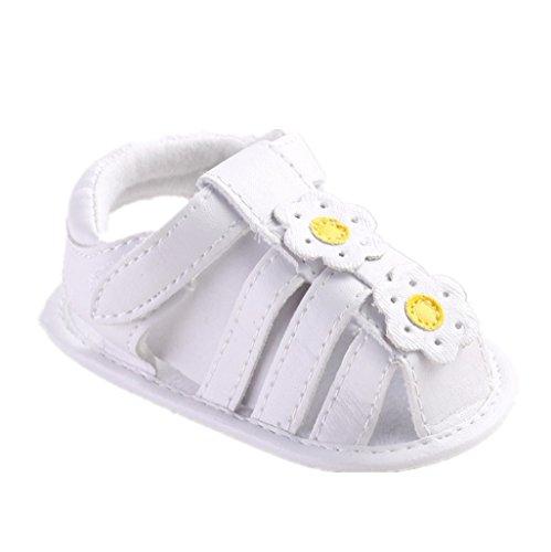 Bebé Prewalker Zapatos Auxma Sandalias de bebé, zapatos de princesa de flores para recién nacidos, antideslizante Soft-Soled zapatos de niño de estilo para 3-6 6-12 12-18 meses