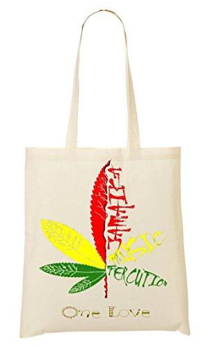 Jamaica One Percussion Music Handbag Shopping Bag