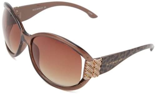 Rocawear R3111 BRAN Oval Sunglasses - Brown Animal - 64 mm