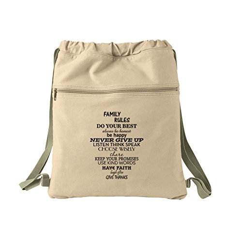 Choose Wisely Keep Your Promises Use Kin Canvas Dyed Sack Backpack Bag