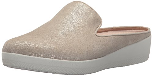 FitFlop Women's Superskate Shimmersuede Slip-on Mules Peachy