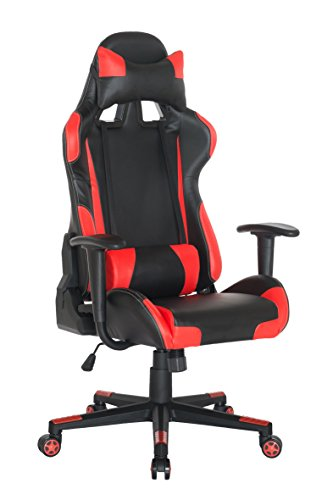 Racing Cut Outs (Guyou Racing Office Chair Executive Swivel Leather Chair Home Gaming Chair Ergonomic Design Racing Gaming Chair High-Back Computer Chair With Lumbar Support and Headrest)