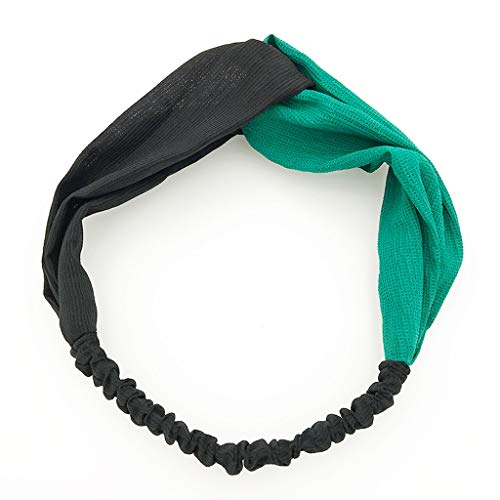 - Womens Headbands Boho Vintage Flower Print Criss Cross Elastic Hair Accessories