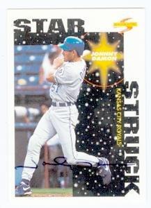 Baseball Autographed Damon Johnny (Johnny Damon autographed baseball card (Kansas City Royals) (67) 1996 Score #382 - Autographed Baseball Cards)
