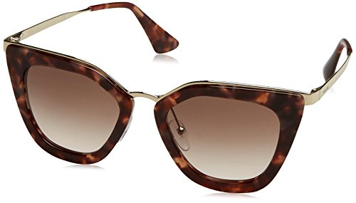 Prada PR53SS UE00A6 Spotted Brown Pink PR53SS Cats Eyes Sunglasses Lens - Prada Eye Sunglasses Cat
