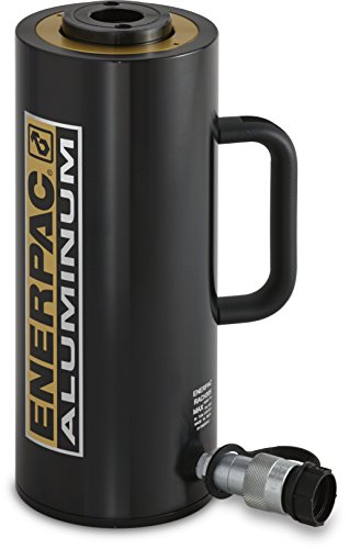 """Enerpac RACH-302 Aluminum Hollow-Plunger Hydraulic Cylinder with 30-Ton Capacity, Single Port, 1.97"""" Stroke Length"""