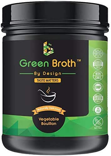 Organic Pea Protein Vegetable Bouillon Natural Flavor Keto Non-GMO 21 Portions Protein 340g Jar Broth by Design