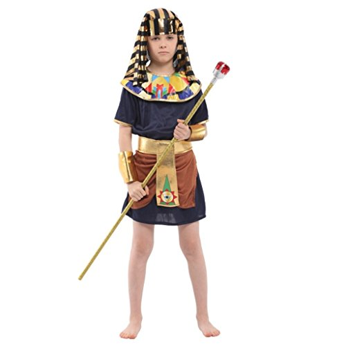 [Shanghai Story Kids Colourful Costumes Boy's Egyptian Pharaoh Clothes Set M] (Colourful Costumes For Kids)