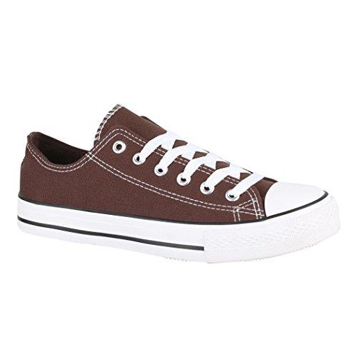 Basic Elara und Eine Größer Unisex Low für Aus Turnschuh Schuhe 36 Textil Sportschuhe Damen Brown 46 Sneaker Nummer Fällt Bequeme Top Herren aYanrqFR