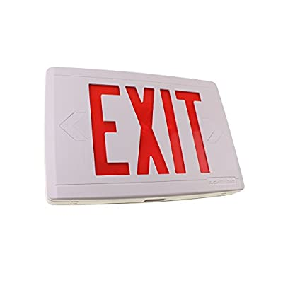 COMPAC Thermoplastic LED Exit Sign with Xtest Self-Diagnostics