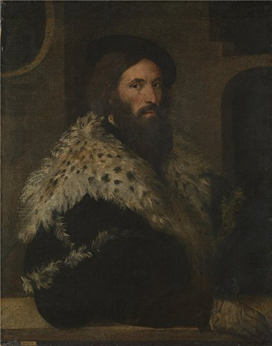 Oil Painting 'After Titian - Portrait Of A Man (Girolamo Fracastoro),about 1528', 8 x 10 inch / 20 x 26 cm , on High Definition HD canvas prints is for Gifts And Bar, Foyer And Home Theater Decoration