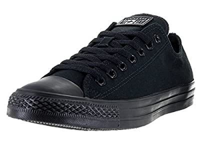 Converse Unisex Chuck Taylor All Star Ox Low Top Classic Black Monochrome Sneakers - 8 Men 10 Women