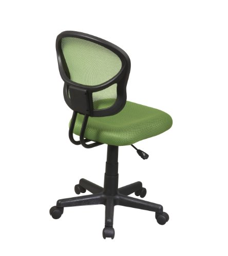 office star mesh back armless task chair with padded fabric seat green marketplace offers. Black Bedroom Furniture Sets. Home Design Ideas