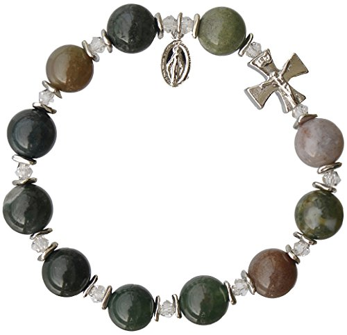 Multi Color Onyx Gemstone Rosary Bracelet