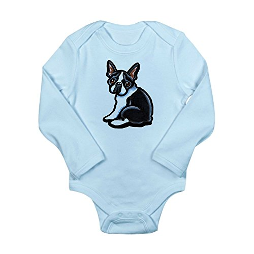 CafePress - Cute Boston Terrier Long Sleeve Infant Bodysuit - Cute Long Sleeve Infant Bodysuit Baby Romper