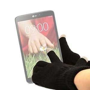Guantes capacitivos talla S (pequeño) DURAGADGET-Lápiz digital para pantalla táctil de tablets Android, Haier C-Display de color de 7 pulgadas.
