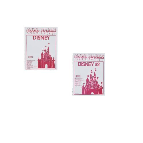 Disney #1 and #2 Songsheet Packets for Music Maker - 2 PACK