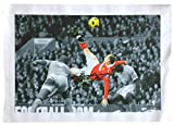 #6: Wayne Rooney Signed 20x30 Manchester United Bicycle Kick Canvas BAS