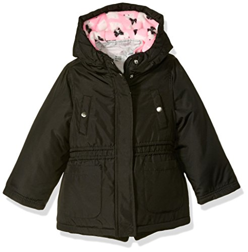 Carter's Little Girls' 4 in 1 Heavyweight Systems Jacket, Black Doggies, 4 ()