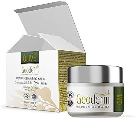 Geoderm Crema Antiarrugas Hidratante Facial Mujer con Rosa de Mosqueta + Vitamina E + Aceite de Oliva - 50 ml