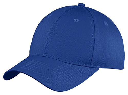 6 Panel Twill Cap (Port & Company Six-Panel Unstructured Twill Cap>One size Royal C914)