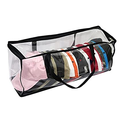 Evelots Large Clear Baseball Cap Storage Bag with Zipper and Black Handles  sc 1 st  Amazon.com & Amazon.com: Evelots Large Clear Baseball Cap Storage Bag with Zipper ...