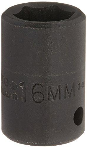 Stanley Proto J7416M 1/2-Inch Drive Impact Socket, 16mm, 6 Point ()