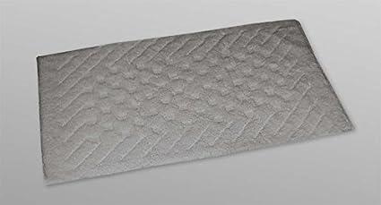Tappeto bagno passatoia cotone pesante cm grigio