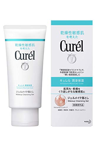 Curel Kao Makeup Cleansing Gel, 130 Gram Cleansing Gel Makeup Remover