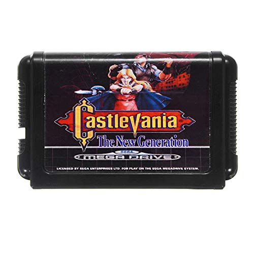 16 Bit MD Game Card Castlevania the Generation for MegaDrive Video Game Console System - Retro Games Accessories Cartridge For - 1 x Castlevania (the New Generation) Game Cartridge