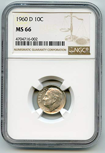 1960 Roosevelt Dimes Dime MS-66 NGC