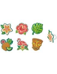Polynesian Flair Cupcake Rings - 24 pc