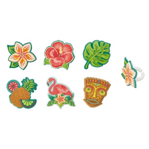Polynesian Flair Cupcake Rings - 24 pc