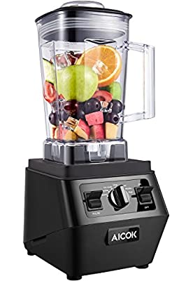 Aicok Blender 1400W Professional High Speed Mixer 30,000RPM, with 70oz BPA-Free Tritan Pitcher, Variable Speed Controls, Commercial Blender with Stainless Steel 6 Pro Blades for Ice Crushing/ Smoothie/ Dessert, Black