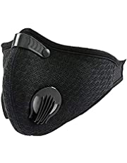 Black Breathing Mask for running sports dust and air pollution pollen allergies - gym exercise mask for men and women reusable anti smoke for traveling, cycling, outdoor training washable working mask