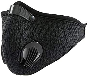 Black Breathing Mask for running sports dust and air pollution pollen allergies - gym exercise mask for men and women...