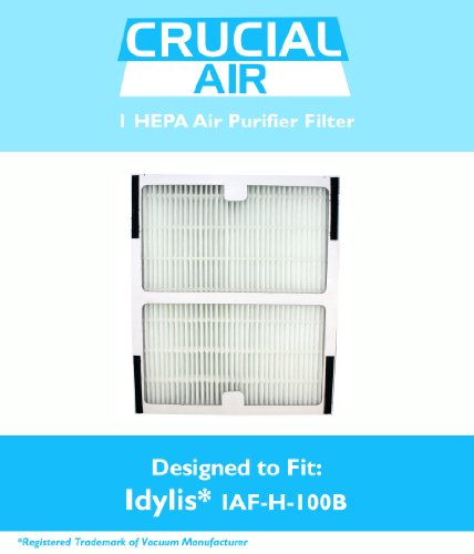 Idylis B HEPA Air Purifier Filter, Fits Idylis Air Purifiers IAP-10-125, IAP-10-150, Model # IAF-H-100B, IAFH100B, Designed & Engineered by Crucial Air