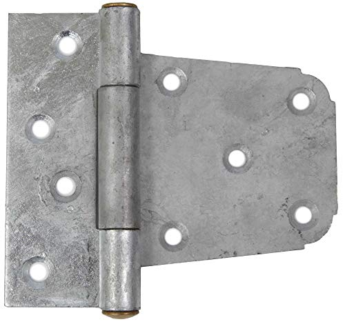 10 Pack Gatemate 6020011 3-1/2'' Offset Gate Hinge - Galvanized Finish by Gatemate (Image #1)