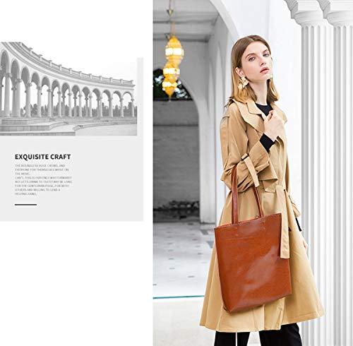 Main En Foncé Provisions Cabas Gris Leather Mobile Capacité Simple Hjly Grande Sac Sacs À Cuir twCn6qIZ