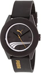 Puma Men's PU103971002 Black Rubber Quartz Watch