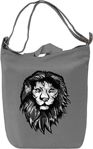Wild Lion Borsa Giornaliera Canvas Canvas Day Bag| 100% Premium Cotton Canvas| DTG Printing|