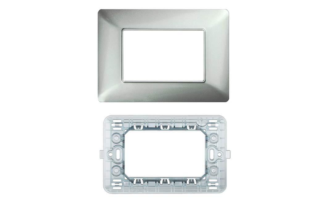 Serie Completa di Placche per Interruttori Prese Supporto 3 Posti Compatibile matix ORO LineteckLED Kit Placca 3 Posti 3M Compatibile matix ROSE