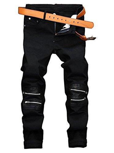 Men's Fashion Stretch Casual Pants Black 32