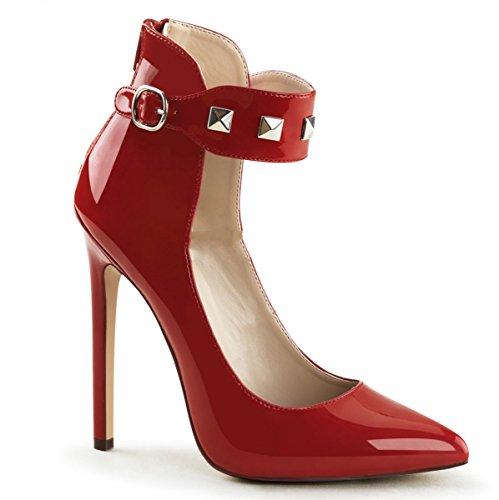 Pleaser - Zapatos de vestir de Material Sintético para mujer Rojo rojo 45