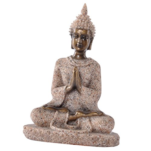 Baoblaze Buddism Buddha Maitreya Fengshui Statue Sculpture Handmade Figurine Home Desktop Office Decor - Sandstone 6.55.59cm/2.562.173.54inch