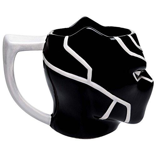 Zak Designs Marvel Comics Black Panther Unique 3D Character Sculpted Ceramic Coffee Mug, Collectible Keepsake and Wonderful Coffee Mug (11 oz., Black Panther, BPA-Free)